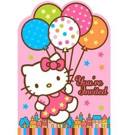 Amscan INVITATIONS HELLO KITTY (8)