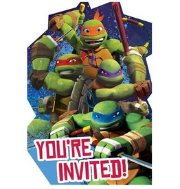 Amscan INVITATIONS - LES TORTUES NINJAS (8)