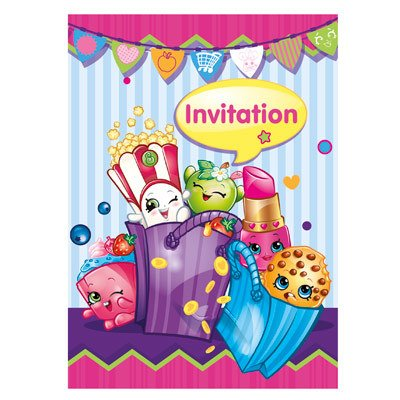 Unique INVITATIONS (8) - SHOPKINS
