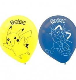 "Amscan SAC DE 6 BALLONS 12"" EN LATEX - POKEMON"