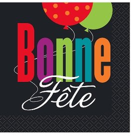 Unique SERVIETTES À COCKTAIL - BONNE FÊTE (16)
