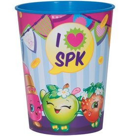 Unique VERRE DE PLASTIQUE 16OZ - SHOPKINS