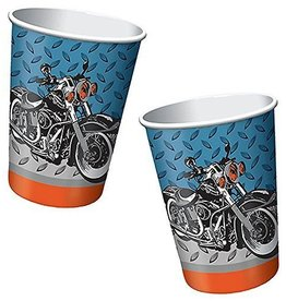Creative Converting VERRES 9OZ MOTOS METALLIQUES (8)