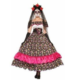 "Forum Novelty COSTUME ADULTE FEMME ESPAGNOLE ""JOUR DES MORTS"" -STD"