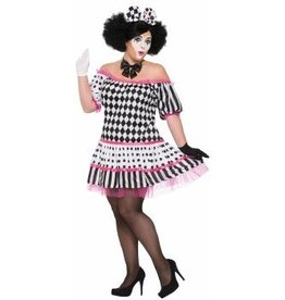 Forum Novelty COSTUME CLOWN HARLEQUIN- FEMME TAILLE PLUS