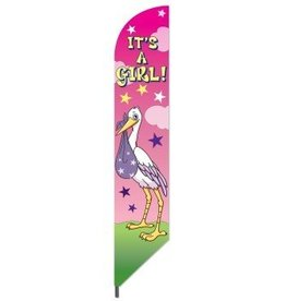 "Forum Novelty DRAPEAU ""IT'S A GIRL"""