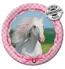 Creative Converting ASSIETTES 9'' CHEVAL D'AMOUR (8)