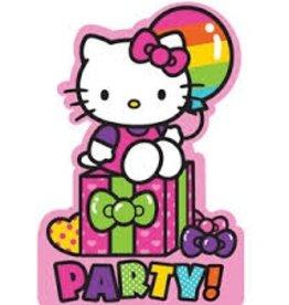 Amscan INVITATIONS - HELLO KITTY ARC-EN-CIEL (8)
