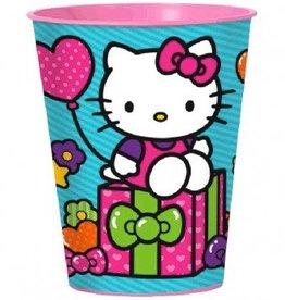 Amscan VERRE DE PLASTIQUE 16OZ - HELLO KITTY ARC-EN-CIEL
