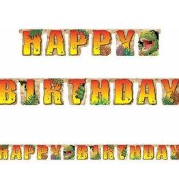 Creative Converting BANNIERE HAPPY BIRTHDAY DINOSAURES