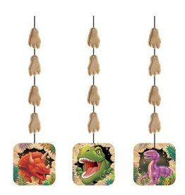 Creative Converting DECORATIONS SUSPENDUES DINOSAURES (3)