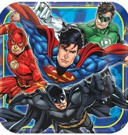 Amscan ASSIETTES 9'' - JUSTICE LEAGUE (8)