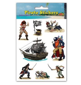 Beistle Co. AUTOCOLLANTS PIRATE (4 FEUILLES)