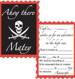 Beistle Co. INVITATIONS PIRATE (8)