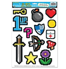 Beistle Co. DECORATIONS ADHESIVES 8-BIT