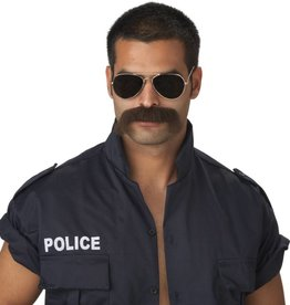 "California Costumes MOUSTACHE BRUN FONCE ""THE MAN"""