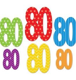 Beistle Co. DECOUPAGES DE CARTON 80 ANS (6)