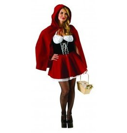RUBIES COSTUME ADULTE CHAPERON ROUGE -TAILLE PLUS