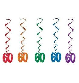 Beistle Co. DECORATIONS SPIRALEES 60 ANS (5)