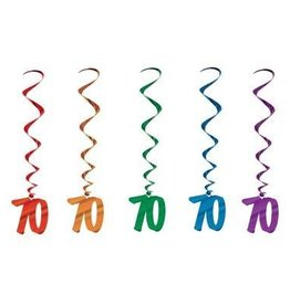 Beistle Co. DECORATIONS SPIRALEES 70 ANS (5)