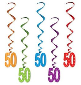Beistle Co. DECORATIONS SPIRALEES 50 ANS (5)
