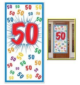 Beistle Co. AFFICHE DE PORTE - 50 ANS