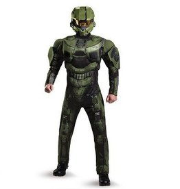 Disguise COSTUME ADULTE MASTER CHIEF MUSCLE DELUXE