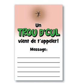 Créations ozze BLOC-NOTES - TROU D'CUL