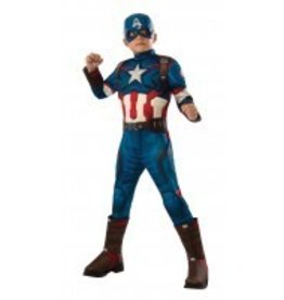 RUBIES COSTUME ENFANT CAPITAINE AMERICA MUSCLE DELUXE