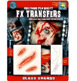 TINSLEY PROTHESE FX TRANSFERS - GLASS SHARDS