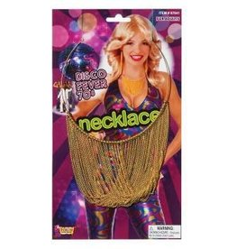 Forum Novelty COLLIER DISCO EN CHAINETTE -OR