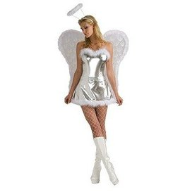 RUBIES COSTUME FEMME ANGE SEXY ARGENT STD