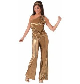 Forum Novelty COSTUME ADULTE DISCO SOLID GOLD LADY - STD