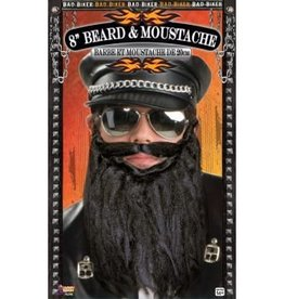 Forum Novelty BARBE & MOUSTACHE BAD BIKERS