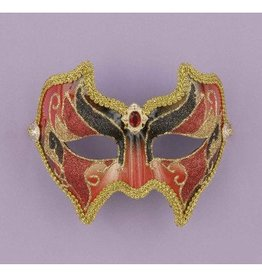 Forum Novelty MASQUE VENITIENT SCINTILLANT ROUGE/OR/NOIR