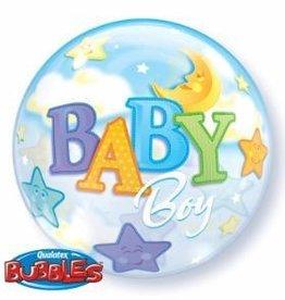 Qualatex BALLON BUBBLES 22PO BABY BOY