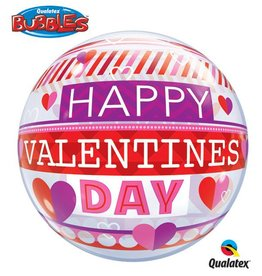 Qualatex BALLON BUBBLES HAPPY VALENTINES DAY