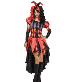 FUN WORLD COSTUME ADULTE CLOWNETTE MECHANTE