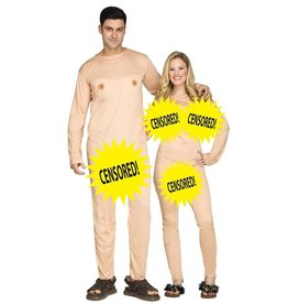 FUN WORLD COSTUME ADULTE COUPLE NUDISTE (2 COSTUMES) - STD