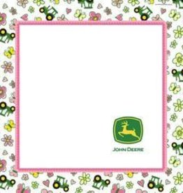 SERVIETTES DE TABLE JOHN DEERE ROSE (16)