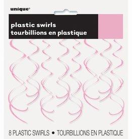 Unique TOURBILLONS SUSPENDUS EN PLASTIQUE (8) - ROSE PÂLE