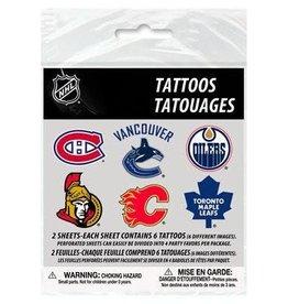Unique TATOUAGES TEMPORAIRE (12/PQT) - NHL
