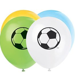 "Unique SAC DE 8 BALLONS 12"" LATEX - SOCCER"