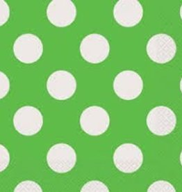 Unique SERVIETTES DE TABLE (16) - POIS VERT LIME
