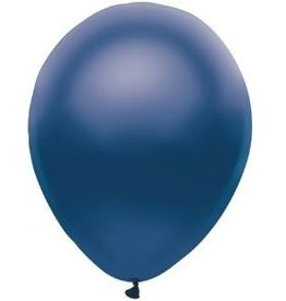 Party Mate SAC DE BALLONS LATEX 11' BLEU FONCÉ SATINÉ SAC DE 10