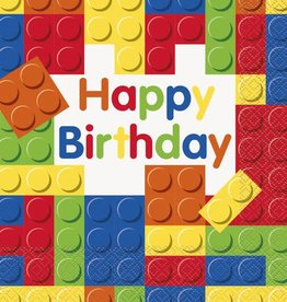 Unique SERVIETTES DE TABLE - HAPPY BIRTHDAY LEGOS