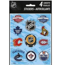 Unique AUTOCOLLANTS 4/PQT -  NHL