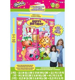 Unique ENSEMBLE DE DÉCORATION MURALE - SHOPKINS