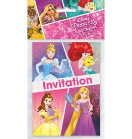 Unique INVITATIONS (8) - PRINCESSES DISNEY