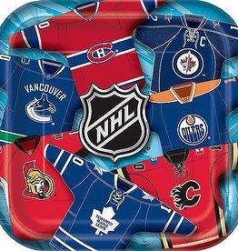 """Unique ASSIETTES CARRÉES 9"""" (8) - NHL"""